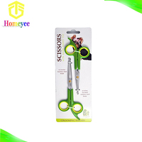 Sharp and strong stainless steel blade pet grooming scissors with round tip top for dogs and pets