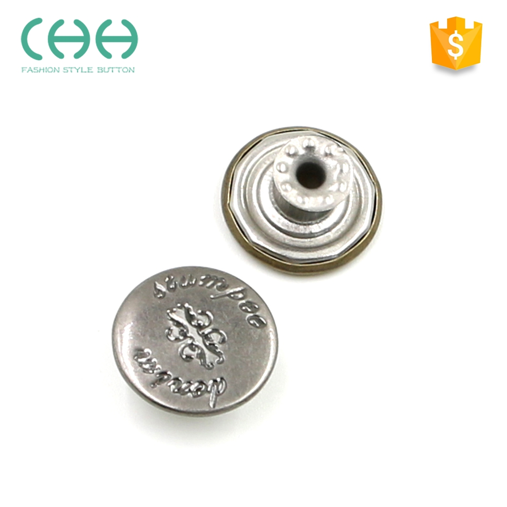 Factory supply eco-friendly plated snap tack JG43 metal jeans button