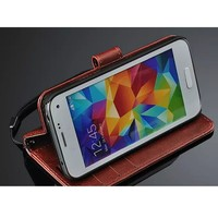 Luxury S5 Mini Case Flip Leather Stand Wallet Credit Card Bag Holder Cell Phone Cover For Samsung Galaxy S5 Mini