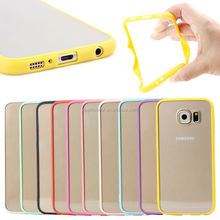 Crystal transparent PC hard case TPU bumper for galaxy s6 phone , for samsung galaxy s6 bumper case