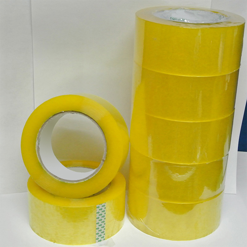 2017 Alibaba Yellow Adhesive Sealing Printed Bopp Tape