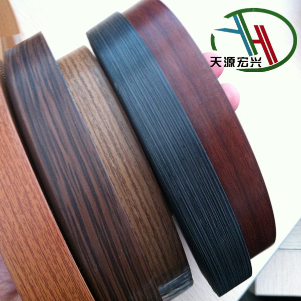0.8mm wood grain pvc edging strip