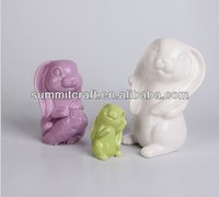 Wholesale ceramic rabbit coin bank