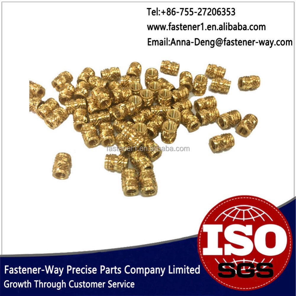 Fatory Supplier Kunrled Plastic Brass Insert Nut