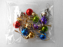 20mm 12 Pcs Shiny Golden Silver Red Blue Green Mini Christmas Bauble For Garden Decoration