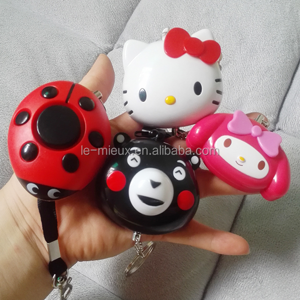 Many Kind Anti Lost Anti Rape Anti Rob High Sound Self Defense Panic Personal Alarm Keychain