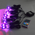 RGB IP67 9W 8pods Rock Lights for offroad ATV UTV SUV 4x4,color changing