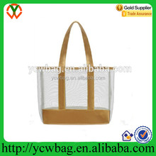 Reusable stylish transparent pvc beach bag