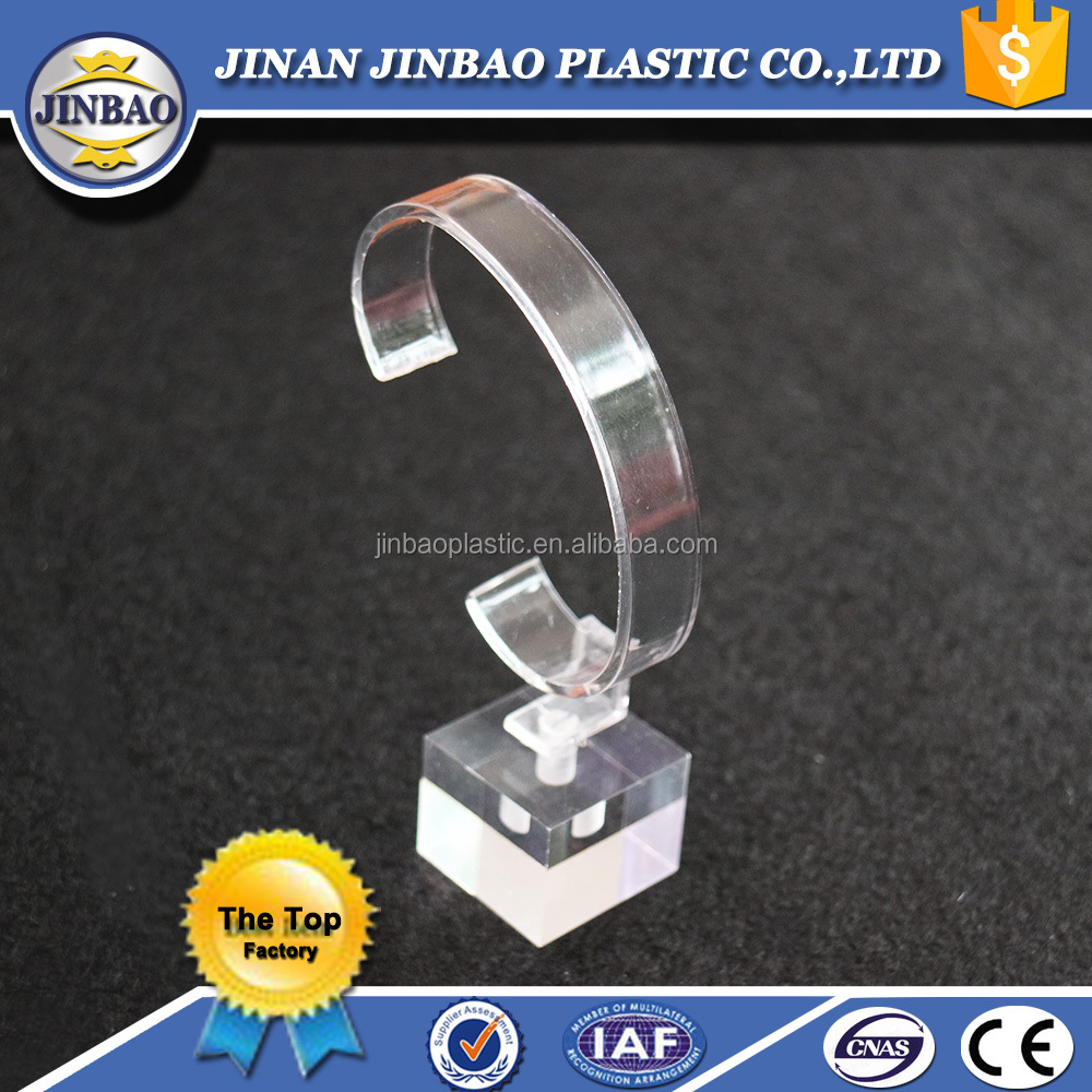 cheap and fine crystal clear acrylic display stand for watch/bangle