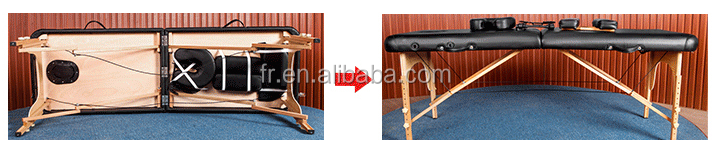 portable 60cm wide mature massage table