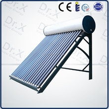 2015 New homemade compact heat pipe pressurized solar hot water heater
