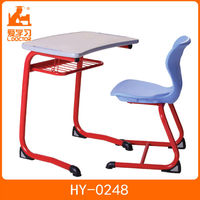 single standard classroom desk and chair