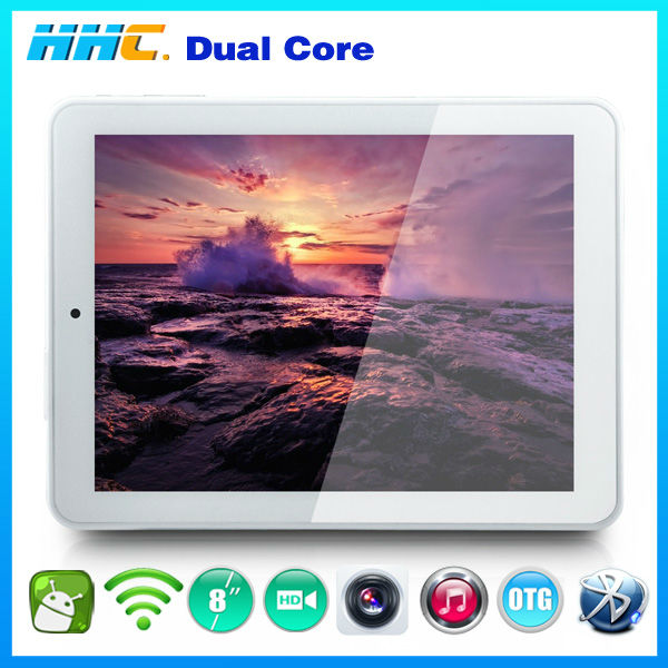 hdmi tv box tablet pc 8 inch dual core 8gb internal android 4.1 with external 3g module