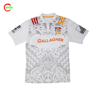 Fashionable Customized O Neck Sublimated Sports Rugby Jerseys For Competition