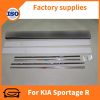 Stainless steel car chrome window trim for K-I-A sportage r 2010 -