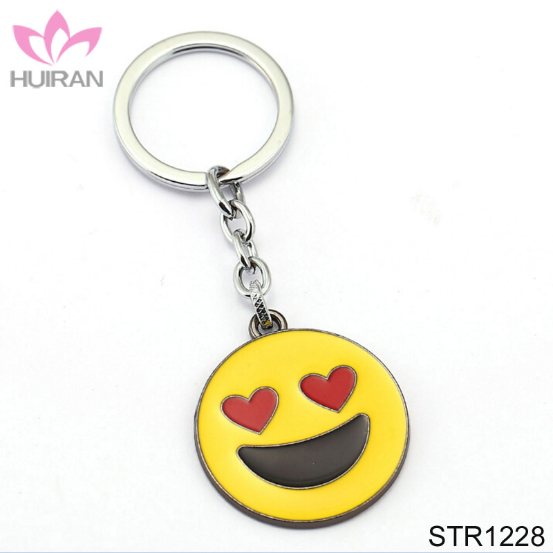 Creative Gift Love Heart Admire Expression Emoji Key Chain Metal KeyChain