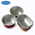 Round aluminum foil cake container recyclable pan rectangular cup