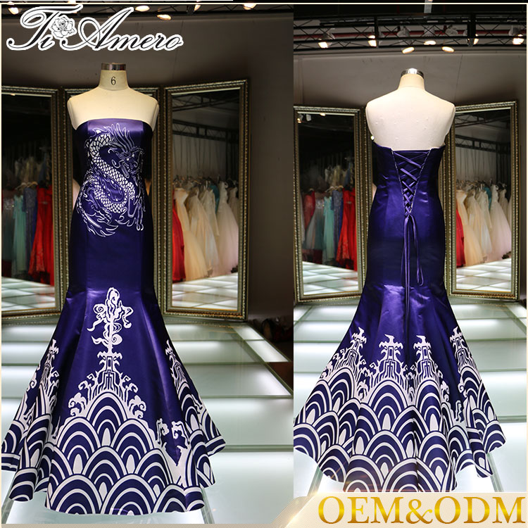 1A606 Chinese traditional art element cocktail dress evening dress 2016 from china