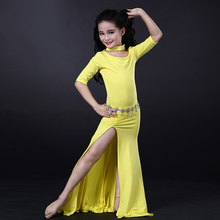 Wuchieal New Design Modal Children Belly Dance Dress with Panty in 4 Colors