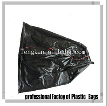 recycled plastic hdpe garbage bag on-roll star seal bottom bag