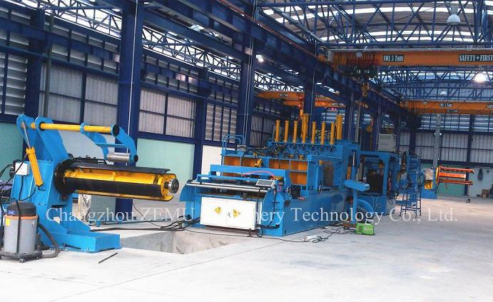 hydraulic transformer tank fin production line(forming machine, cutting machine, welding machine)