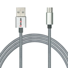 XANUAN android cable charger 2.4A Braided Android Cable with CE ROHS for Samsung Galaxy S7/S6