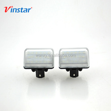 Vinstar Big promotion Error free xenon white 18SMD led license plate lamps for MITSUBISHI outlander accessories