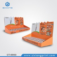 Store retail cardboard table top display case