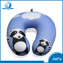 Animal printed Travel Neck Pillow Filled with Polystyrene Beads