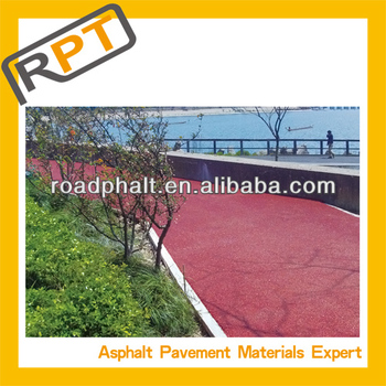 colored Bitumen mixture for garden