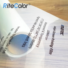 Professional 100micron Waterproof PET Plastic Transparent Inkjet Film For Positive Screen Printing