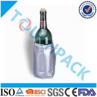 Wholesale High Quality FDA Approved Reusable PVC Wine Gel Cooler Pack / Wine And Bottle Gel Holder In Summer Holidays