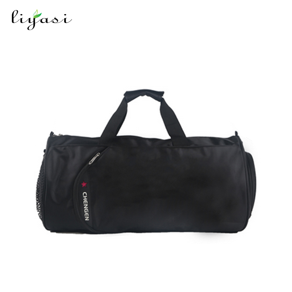 cutom football sport shoulder travel bag with shoe compartment