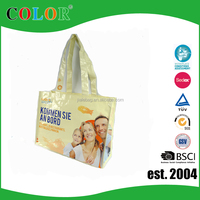 Body material handle customized durable pp woven bag with logo printed
