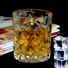 Engraved crystal special diamond whisky/water drinking glass