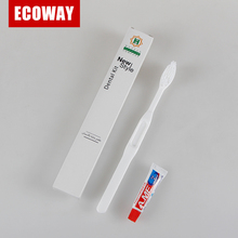 Disposable wholesale hotel toothbrush plastic toothbrush