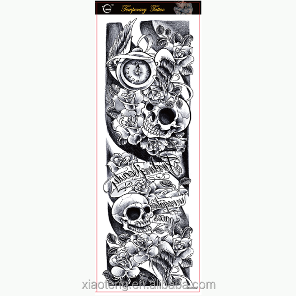 Wholesale tattoo supplies hot new products fashion temporary full arm tattoo sticker
