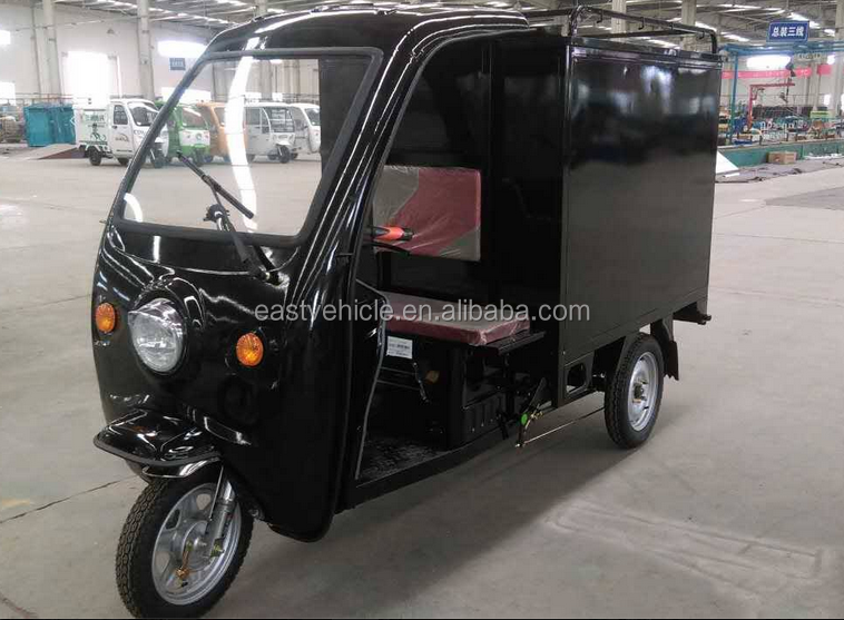 electrophoretic paint motorcycle express cargo electric tricycle with side door and closed box