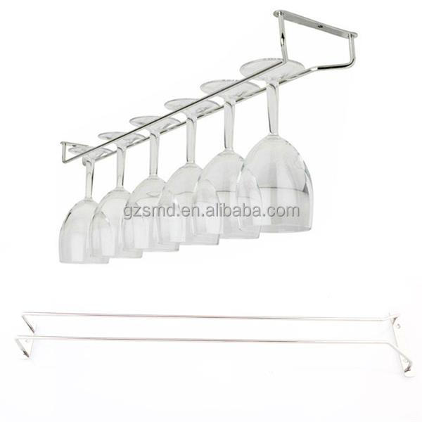 Red Wine Rack Manufacturer Produce Under Cabinet Metal Stainless Steel Hanging Wine Glass Rack