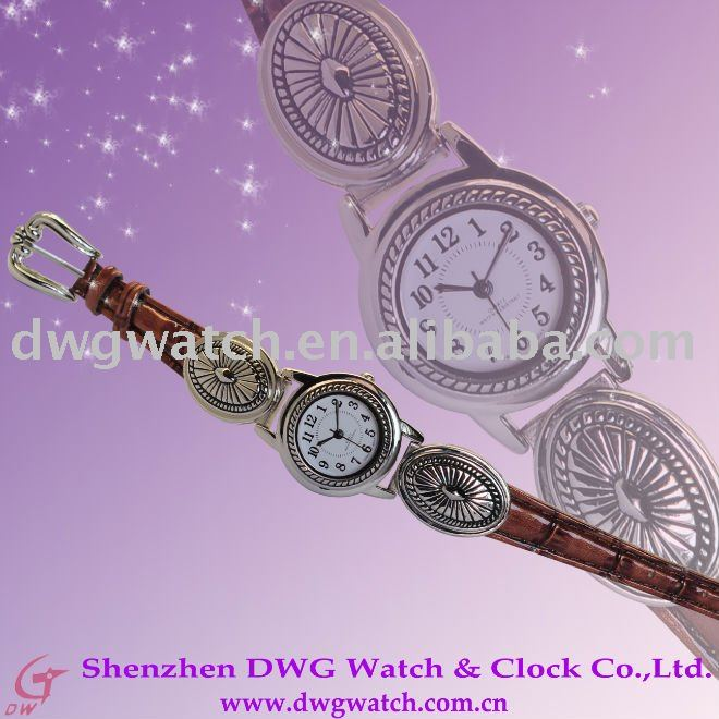 Archaized watch pu lether watch special ladies watch