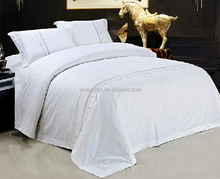 Five-star hotel bedding cotton Embroidery pure white sheet bedding mixed batch