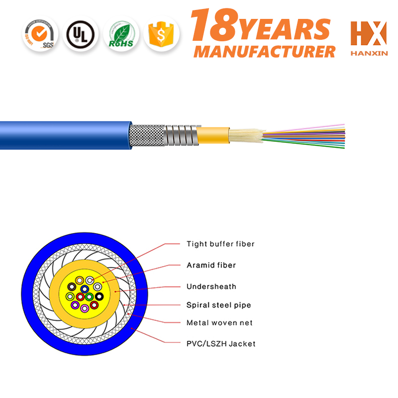 High strength insulated g655 loose tube optical fiber cable
