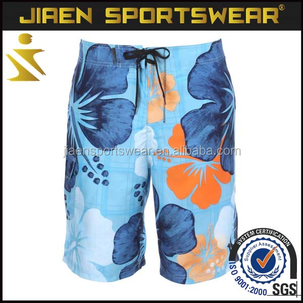 2016 high quality mens casual swimwear and beachshorts full flower printed boardshorts
