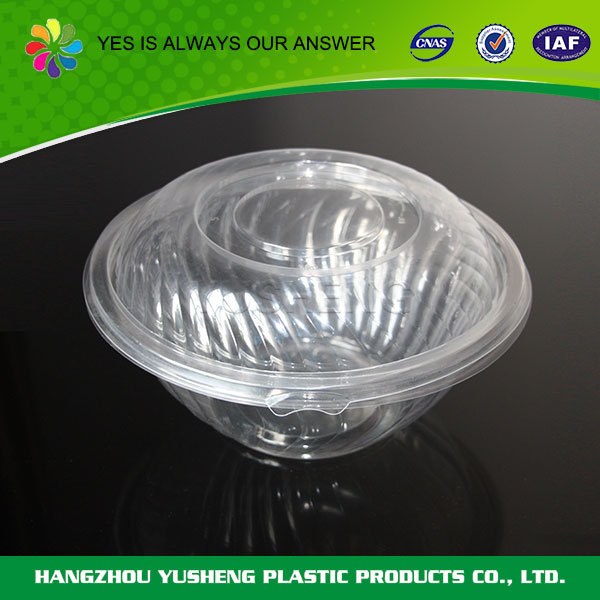 Recycling and non-toxic disposable plastic salad bowls