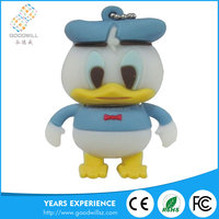 Customized PVC Cartoon USB Flash Drive 3.0, animal duck USB pen drive
