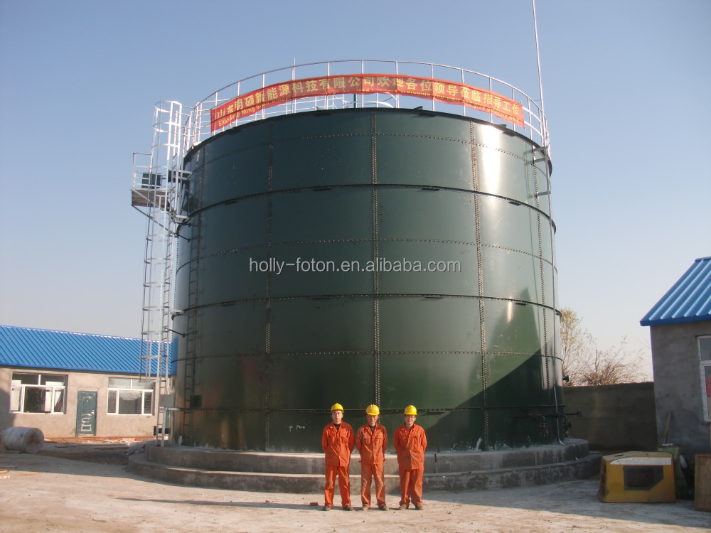Biogas power plant for farmland and industrial area