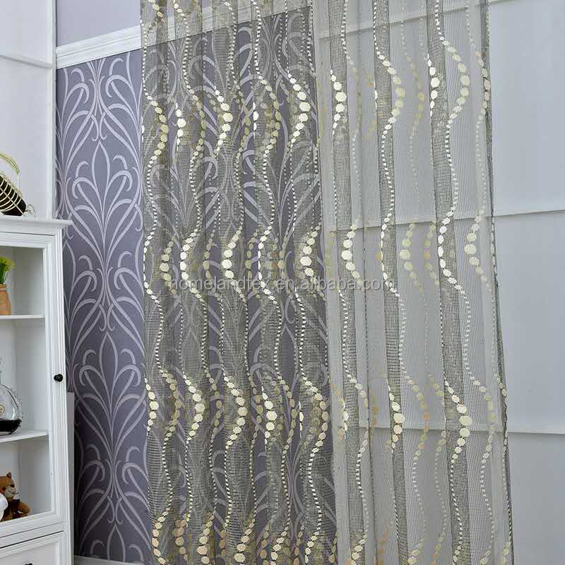Trade Assurance Hot sell Embroidery Lace Fabric Curtain