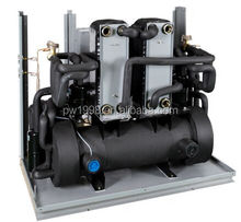 COP5.02 Trinity Geothermal Water to Water Heat Pomp System Supply Sanitary Hot Water, Heating and Cooling Unit