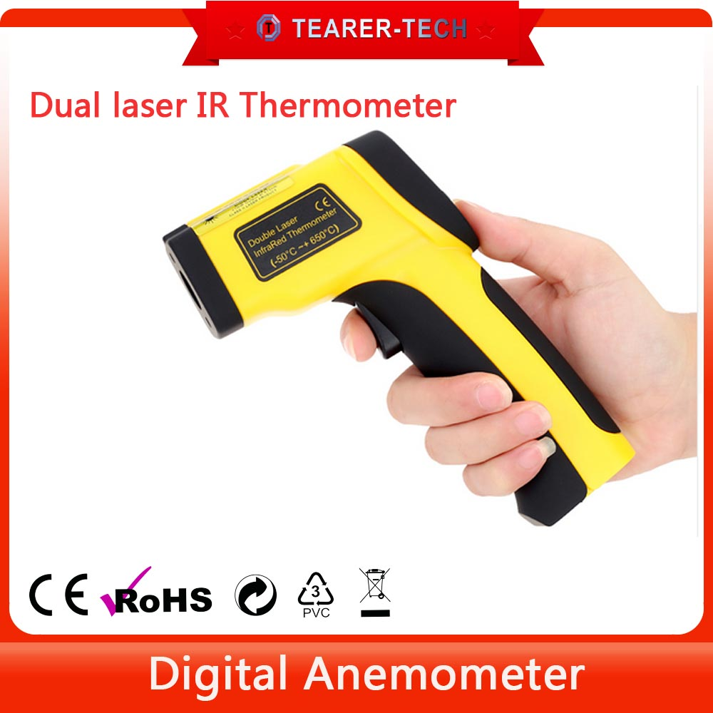 Handheld portable industrial Digital Infrared Thermometer dual Laser thermometer Temperature Tester Gun TL-D650
