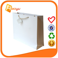 Recycled shopping bags plain paper bag on taobao